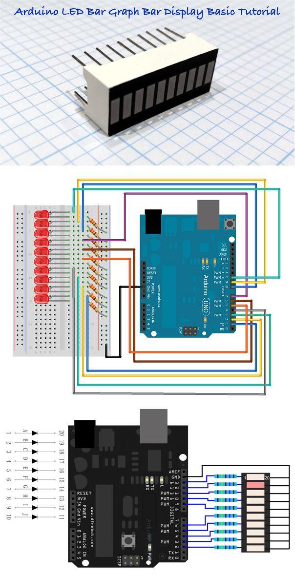 arduino and led bar display circuit diagram code technology rh pinterest com