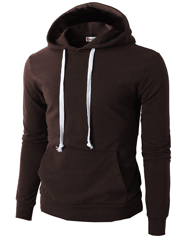 H2H Mens Casual Slim Fit Long Sleeve Color block Hoodie