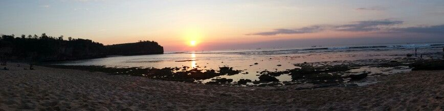 Sunset in Balangan Beach...the best sunset what I've never seen...I love Balangan and their waves!!