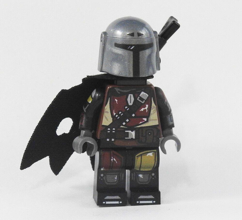 Custom Mandalorian Show Series Star Wars minifigures on lego jango fett boba
