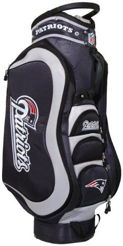 Nfl New England Patriots Cart Golf Bag By Team 149 99 Removable Rain Hood And Umbrella Holder Towel Ring 8 Location Embroidery 5 Zippered