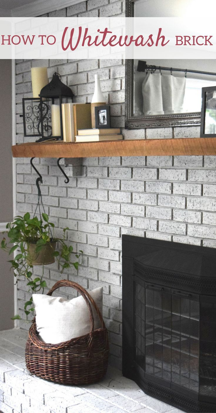how to whitewash your brick fireplace diy blog group board rh pinterest com