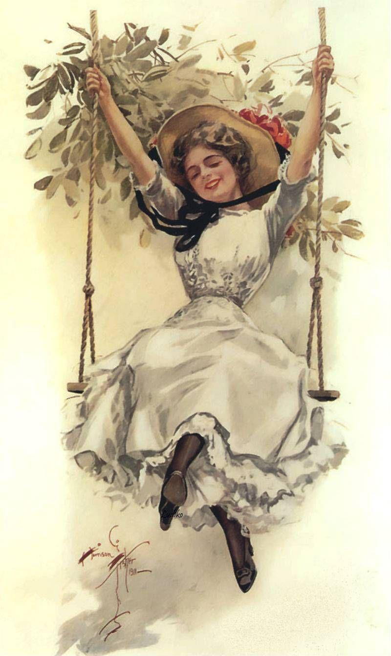 7 das Artes: Ilustrações de Harrison Fisher (1877-1934).
