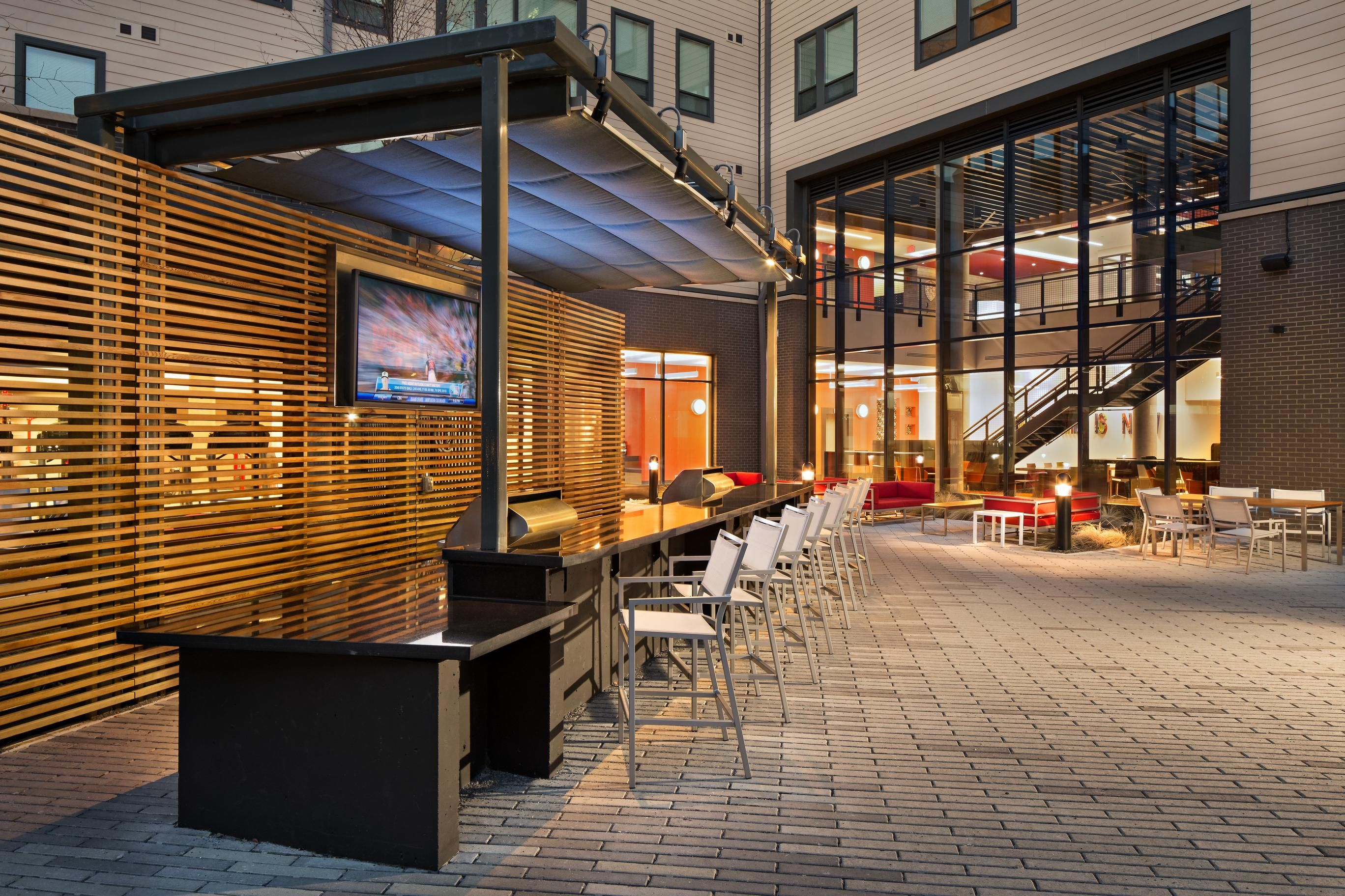 Terrapin Row courtyard in College Park Md