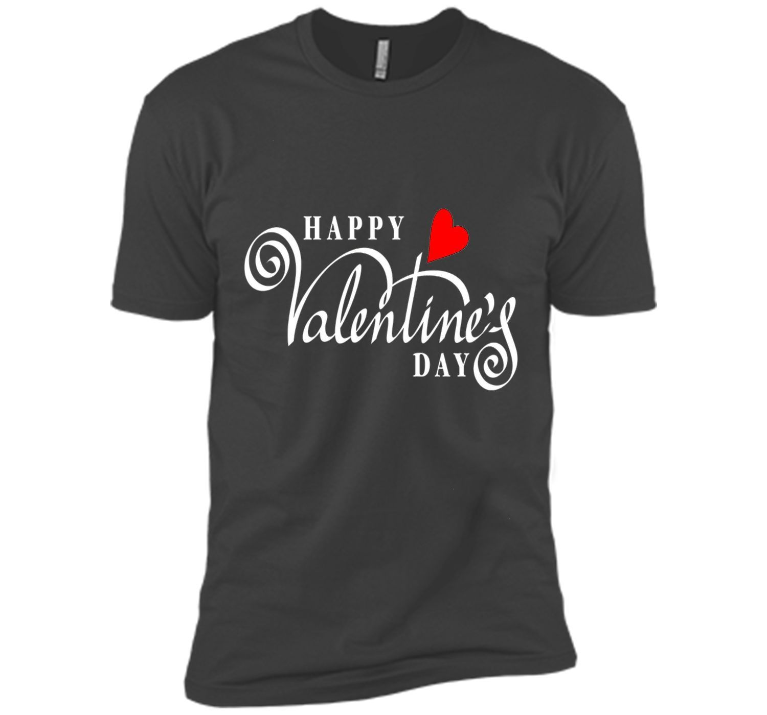 Happy Valentineu0027s Day T shirt with Cool Cursive