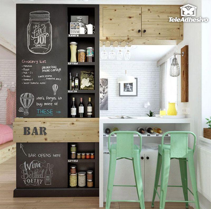 Vinilos Decorativos: Láminas Vinilo Pizarra 70cm 2   Kitchen ...