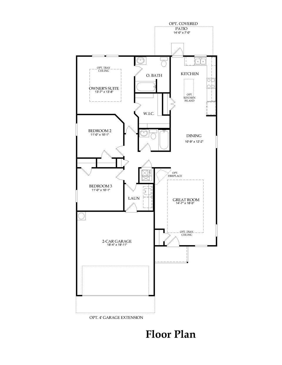 pulte home becket model 1447 sq ft floor plans regular