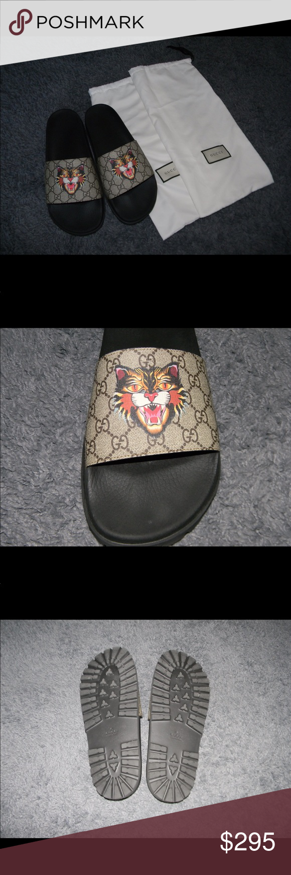 072b9589 Men's Angry Cat Canvas Supreme Slides 44 Size 13, 100% authentic, my ...