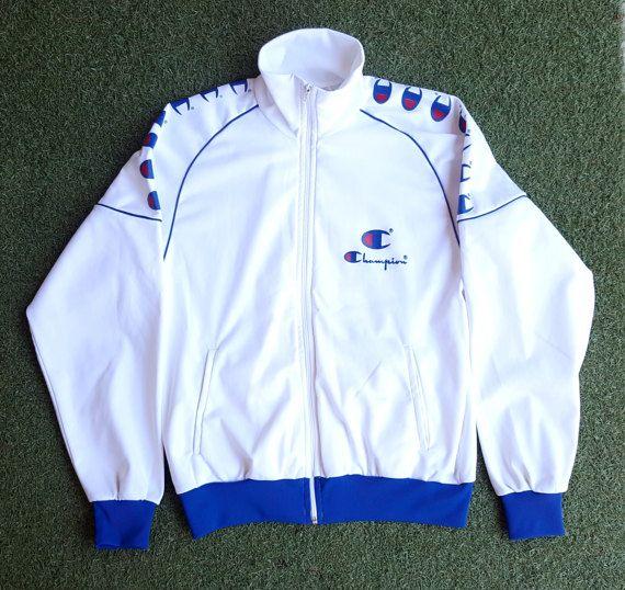 03947cc29b1d 90s Champion Jacket   Champion Jumper   Champion Tracksuit   Colour Block    Windbreaker   Size Large   Unisex   Vintage