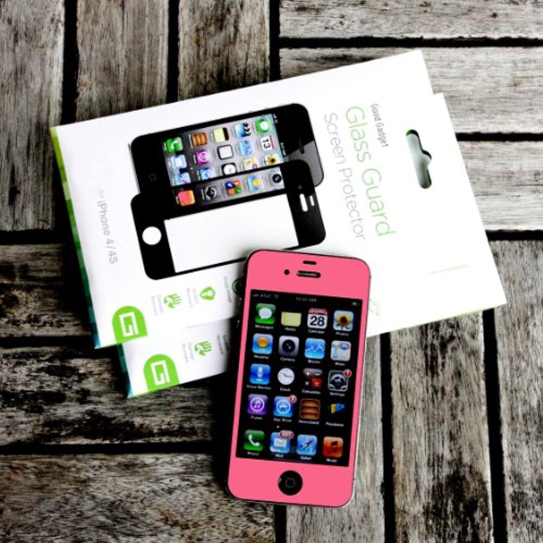 Good gadget iphone 44s glass screen protector pinkclear