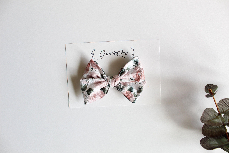 Spring Floral Pinwheel Bows