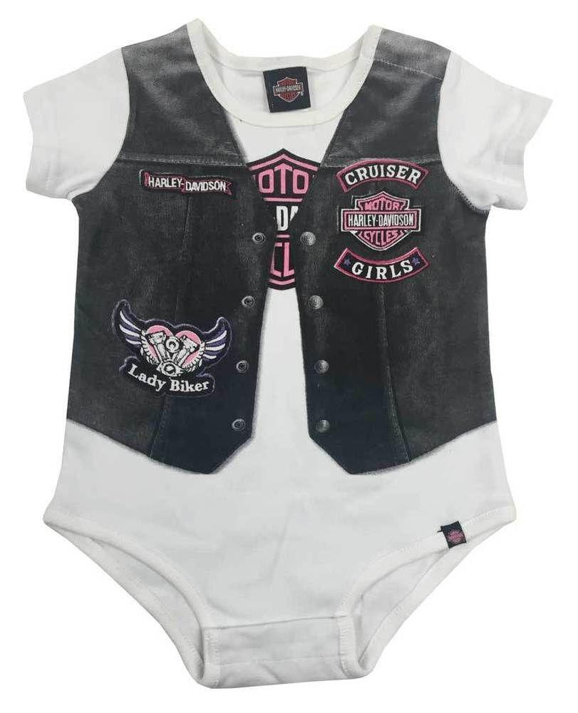c2dea4e98 Harley-Davidson Baby Girls  Printed-On Motorcycle Vest Newborn ...