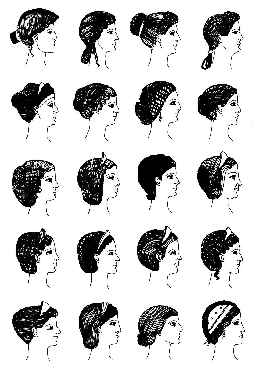 roman hair styles // römische frisuren Interesting.  Roman