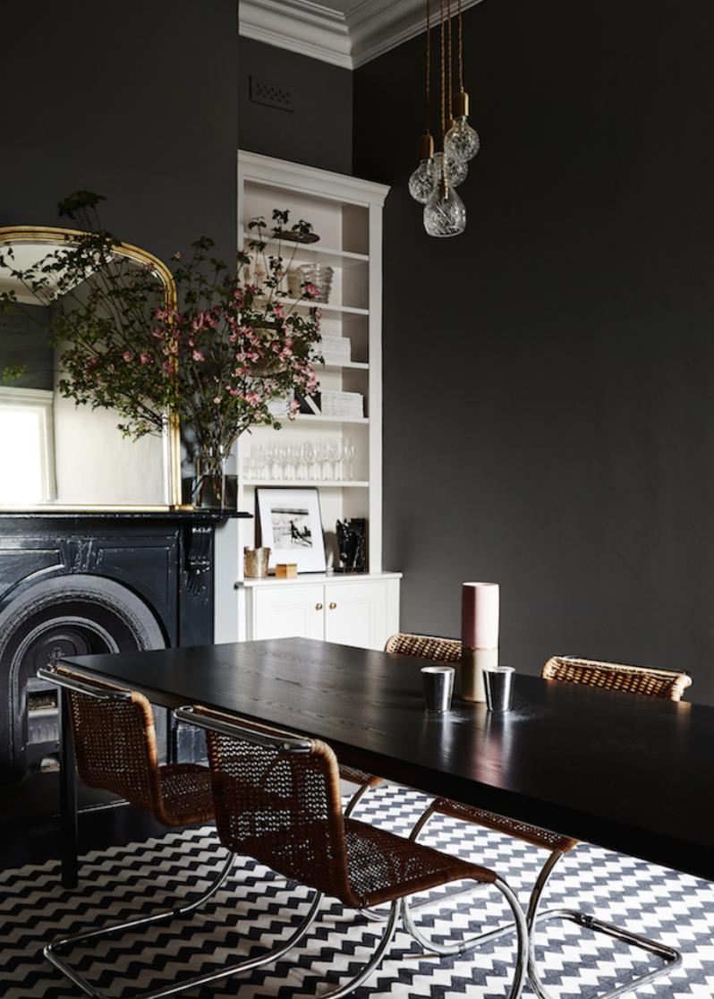 Dark Dining Rooms Dark Interiors Wall Colors