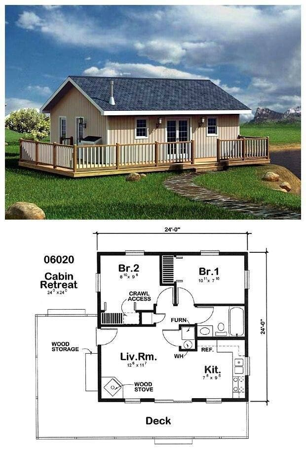 2 Bedroom House Plans: I Would Turn The 2 Bedrooms Into 1and Make The Bathroom