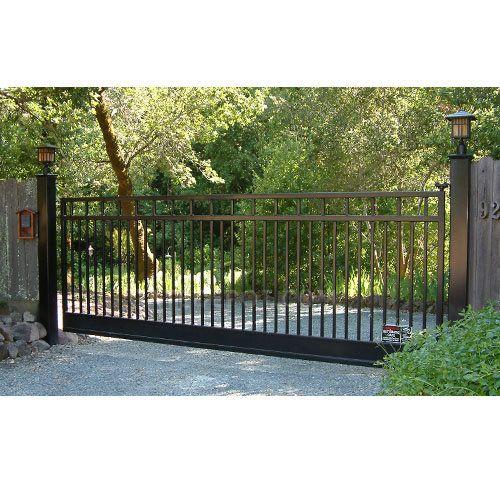 Duragate Cl 4300 Classic Flat Top 5 Bi Parting 12 Wide Driveway Gate Uncrated Metal Driveway Gates Farm Gate Entrance Entrance Gates Driveway