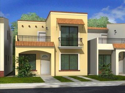 Fachadas casas peque as de un piso de moda proyecto for Pisos para casas pequenas