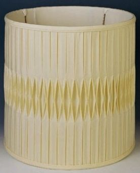 Smock Pleated Silk Drum Lampshade In Colors And Sizes
