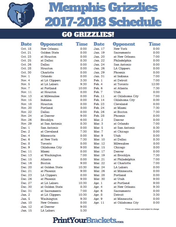 Memphis grizzlies schedule giveaways for baby