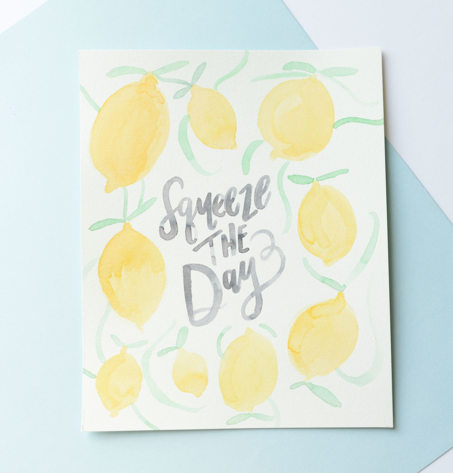 Tombow Techniques: DIY Summertime WATERCOLOR Wall Art | Making ...