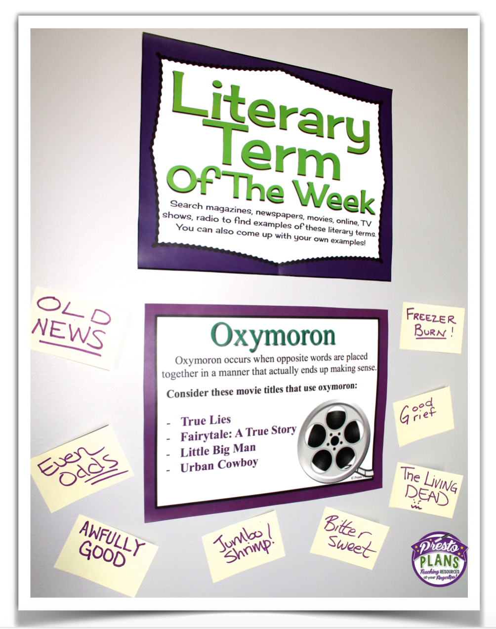 literary term of the week strategy boards middle school rh pinterest com