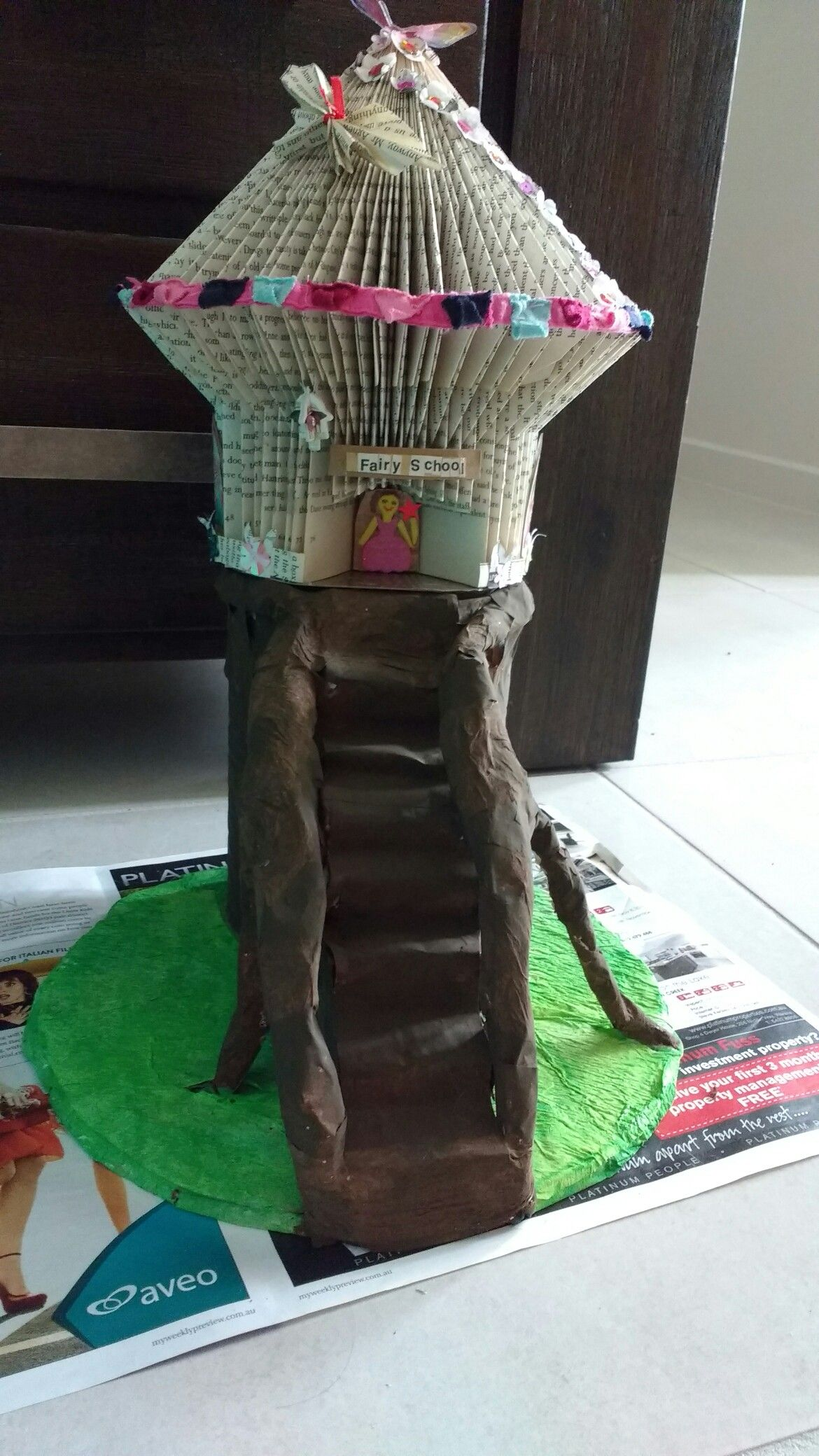 book art fairy house becomes a fairy school in fairy land the book rh pinterest com Make Your Own Fairy House Book Fairy House Building