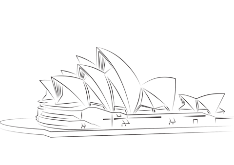 Sydney Opera House Coloring Page Sydney Opera House House Colouring Pages Coloring Pages