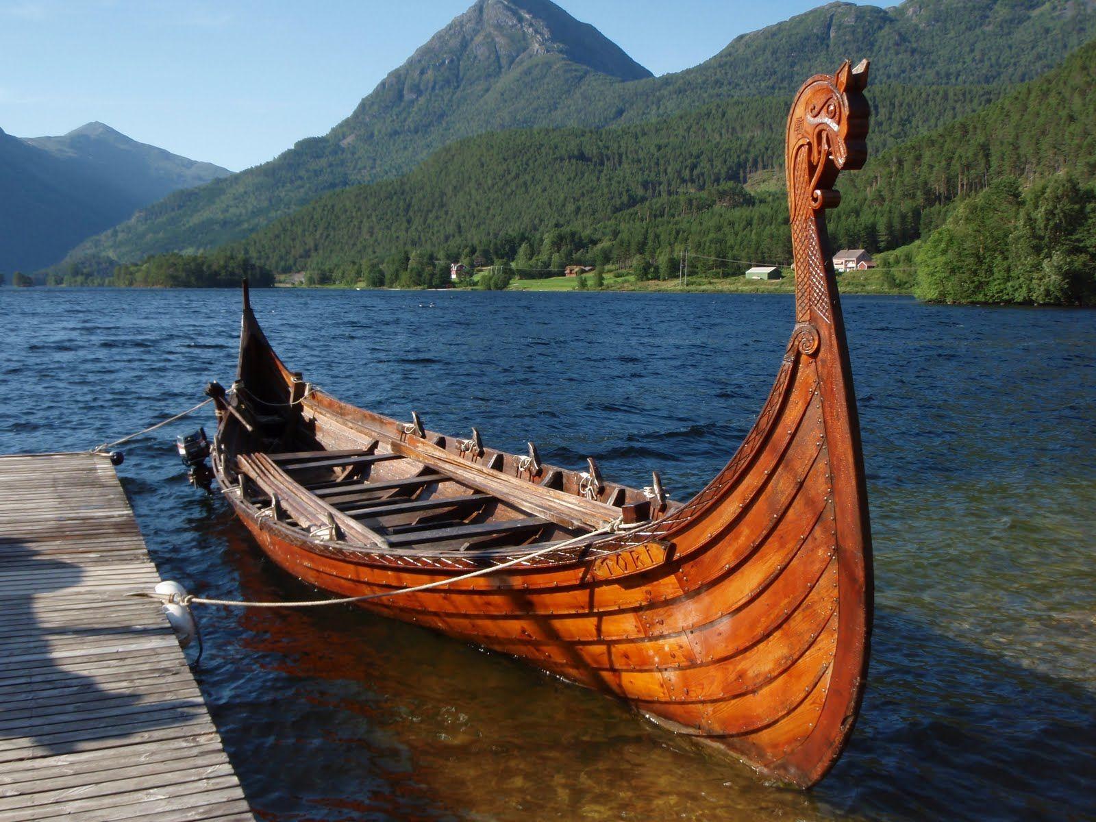 картинки лодка викингов суетой дня