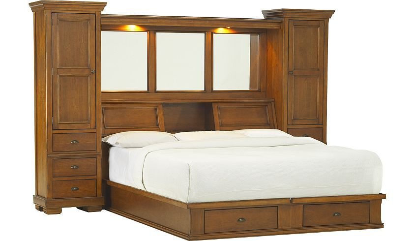 bed frame with storage and headboard sonoma valley king wall bed with storage platform 20228
