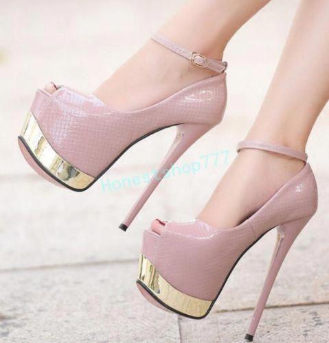 4d99ffd49 Novo Super Salto Alto Feminino Peep Toe Com Salto Agulha de sapatos de  plataforma sandálias Balada #Promshoes
