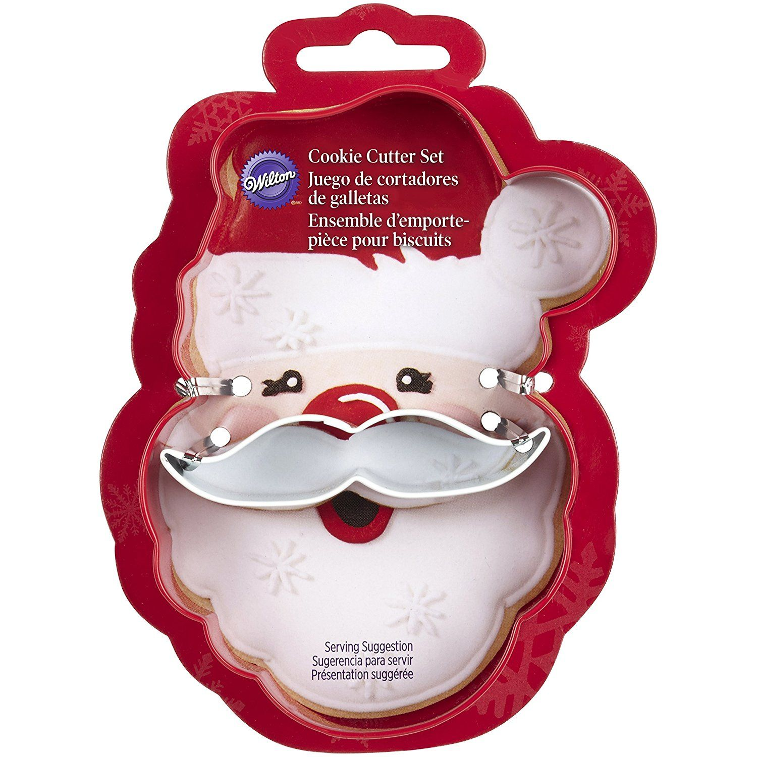 Santa Clause Cookie Cutter Wilton 2308 3270 2 Piece Christmas Face