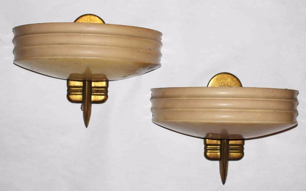 Art Deco Wall Sconces C 1940s Vintage Wall Deco Art Deco Lighting Sconces