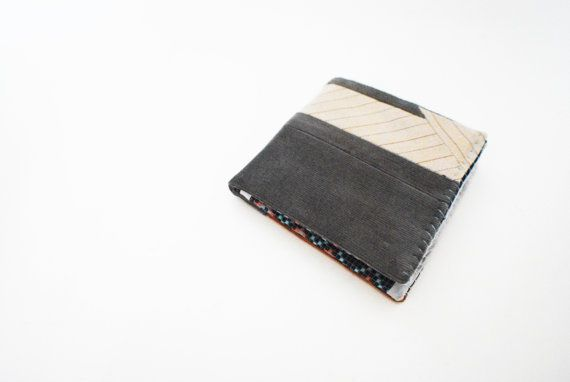 Camel Beige and Grey Color Blocked Corduroy by Singsthesparrow, $30.00