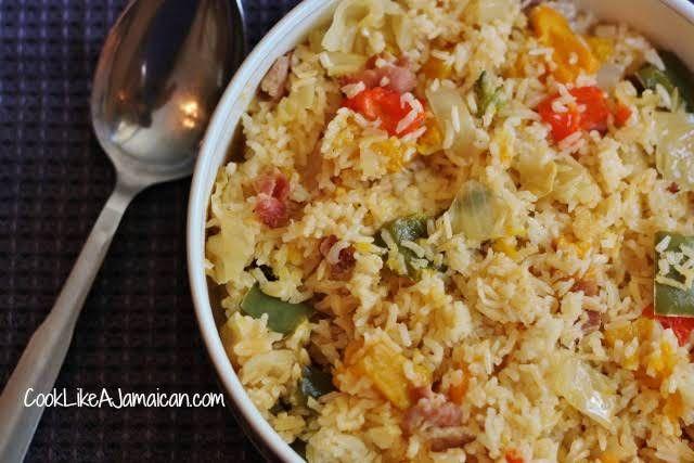 jamaican seasoned rice  recipe  jamaican seasoned rice