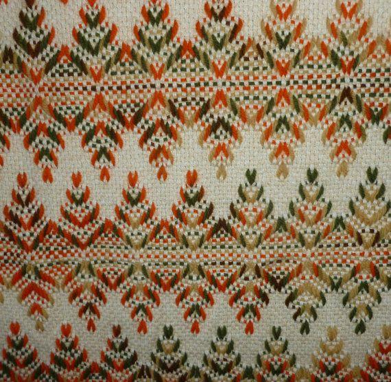 Huck Weaving Throw, Blanket or Afghan - Swedish - Vintage - 52 X 60 ...