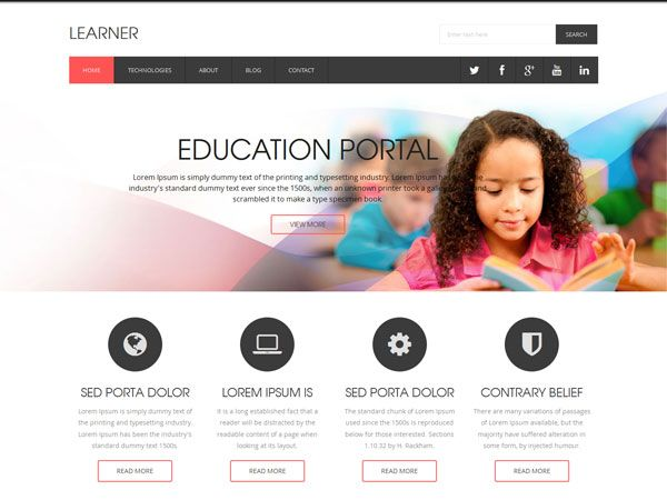 19 Free Education HTML Website Templates | Template Collections