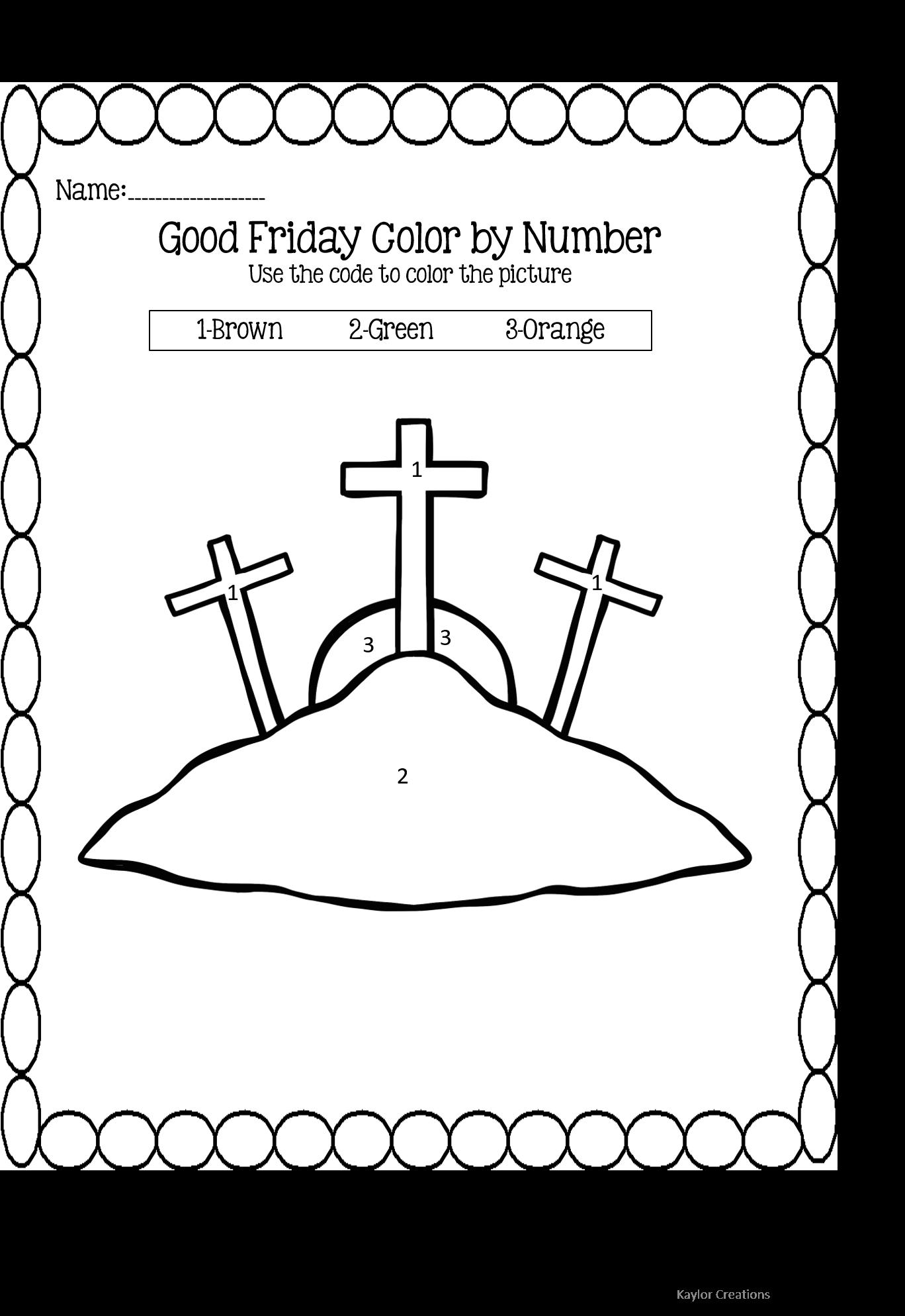 Holy Week And Easter Worksheets Preschool Amp Kindergarten