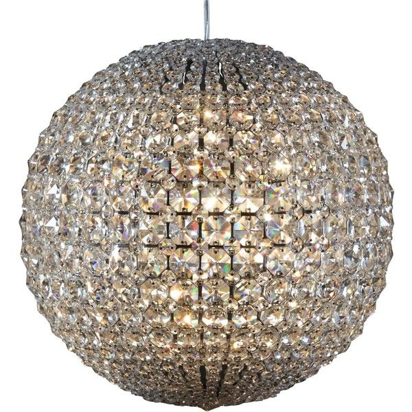 Glitterati Crystal Ball Chandelier Large 1 115 Liked On