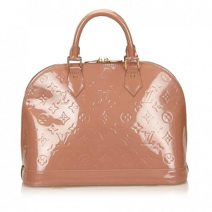 1021a87d67a0 Alma patent leather handbag LOUIS VUITTON Brown