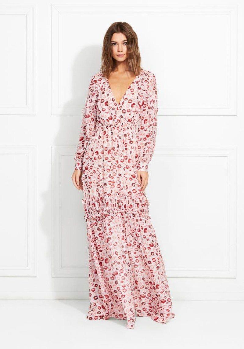 Rachel Zoe Yvonne Kiss Print Silk Chiffon Maxi Dress Shop Chiffon Maxi Dress Shop Maxi Dresses Maxi Dress [ 1143 x 800 Pixel ]
