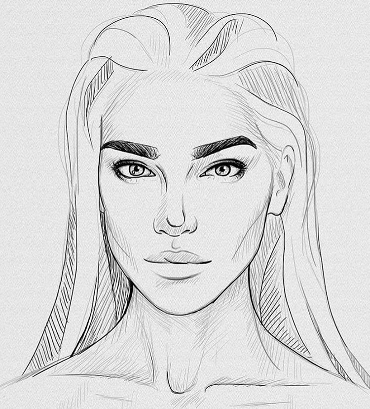 how to draw a pretty instagram hair step by step