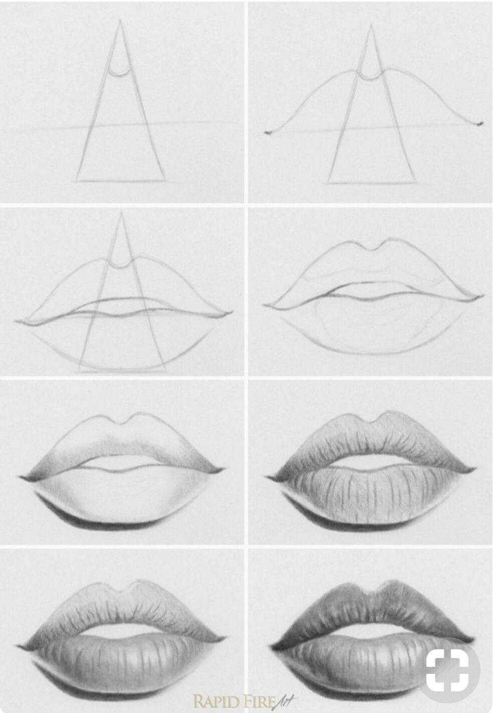 Passo A Passo De Como Fazer Uma Boca Realista Desenho De Labios