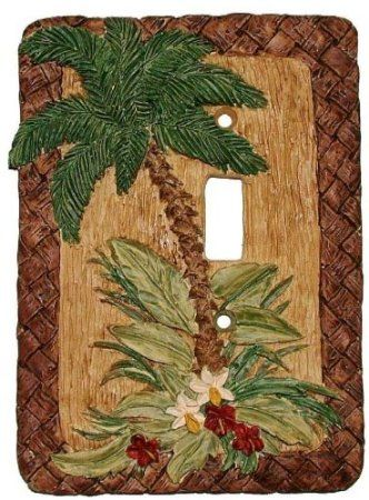 Amazon Com Decorative Light Switchplate Tropical Palm Tree Single Switch Plate Cover Home Kitchen Switch Plate Covers Light Switch Covers Palm Tree Lights