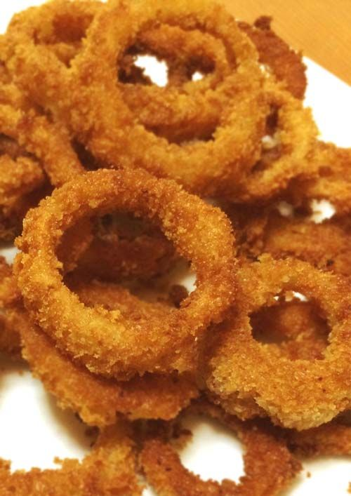 Homemade Crispy Onion Rings Recipe Crispy Onions Onion Rings Recipe Baked Food