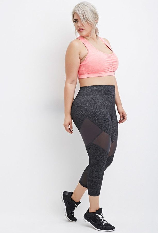 e4c60f6aed Plus Size Mesh-Paneled Capri Athletic Leggings