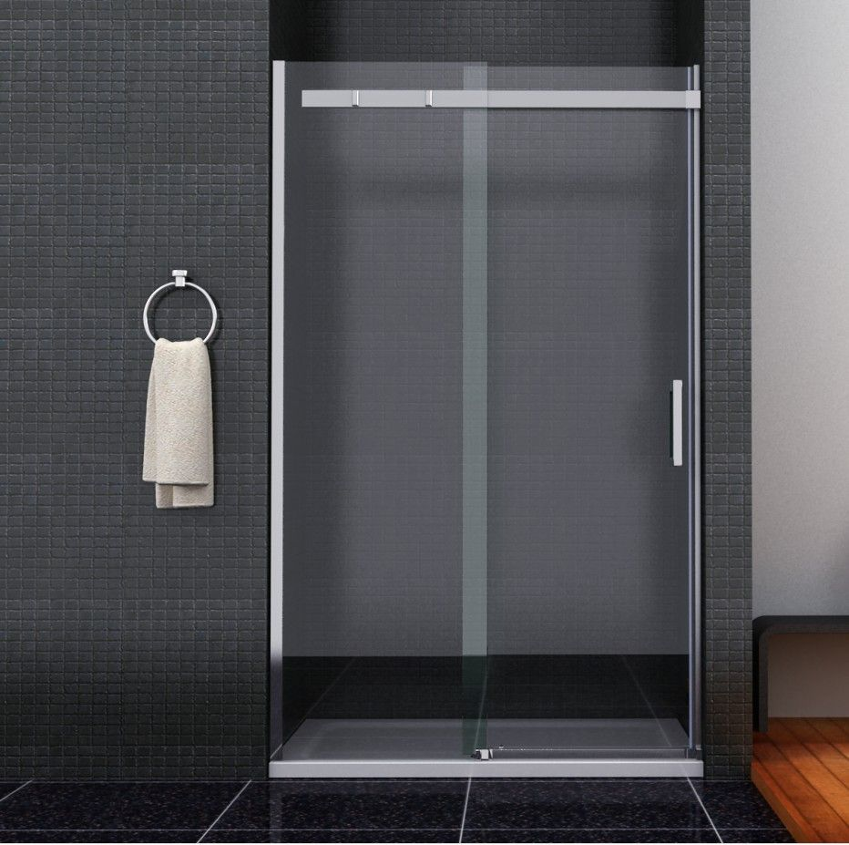 Sliding glass shower doors enclosure bathrooms toilets for Sliding door with glass