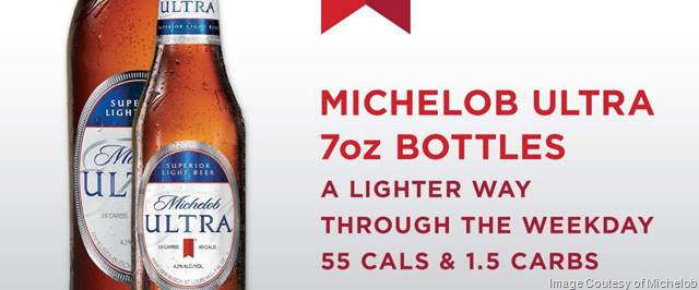 Michelob Ultra Continues To Innovate With Superior Light Beer In 7 Oz Bottles Light Beer Michelob Ultra Bottle