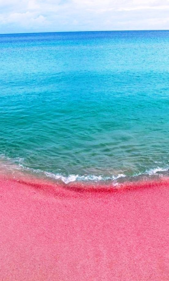 Pink Sand Beach Bahamas Wow I Need To Be Here Like Now Im Begging Anyone Heading That Way Will Good Pinky Promise You