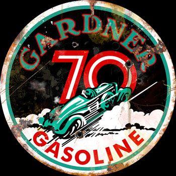 14 Inch Vintage Signs - Vintage Gas - Oil Signs - Garage Art