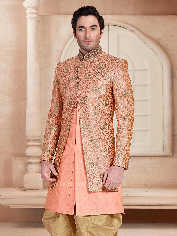 Jacquard silk indo western rajwadi indowestern trendy